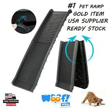 Portable Foldable Pet Dog Ramp For Car Truck Suv Backseat Stair Travel Ladder