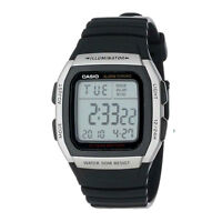 Casio Men's W96H-1AV Alarm Chronograph Digital Sport Watch Water Resistant NIB