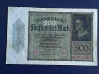 GERMANY - 500 MARK 1922 -   VERY FINE