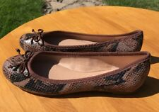 Banana Republic Women's Brown Snake Print Leather Slip On Ballet Flats Size 6.5M