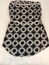 c630ba597d Mud Pie Women's Strapless Swimsuit Cover-up Black Honeycomb Size LG