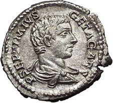 GETA  207AD Silver Rare  Ancient Roman Coin Minerva with shield Athena  i55717