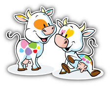 "Cow Love Animal Car Bumper Sticker Decal 5"" x 4"""