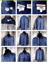 ❤️👍🍀 Original Levi's Jens Hemd Gr L Oversize blau trend