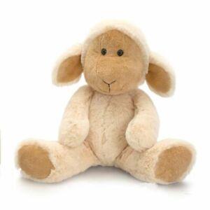Korimco 25cm Flopsy Friend Farm Lamb Soft Animal Plush Toy Kids 3y+ Beige
