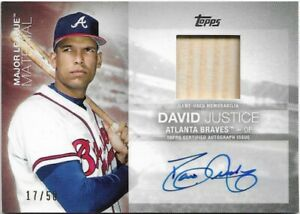 2020 Topps Major League Material DAVID JUSTICE Auto Relic /50