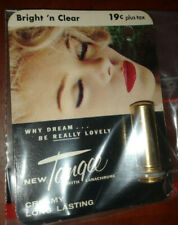 Nos Vintage New on Package Tangee Lipstick - Bright N Clear- advertising prop