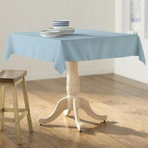 LA Linen Polyester Poplin Square Tablecloth, 58 by 58-Inch. Made in USA