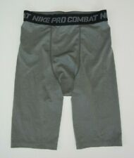 NIKE PRO COMBAT Gray Spandex COMPRESSION SHORTS Athletic Gym Gear Sz Men's SMALL