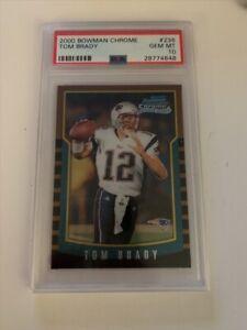 Tom Brady 2000 Bowman Chrome RC #236 PSA 10 Gem Mint Rookie GOAT
