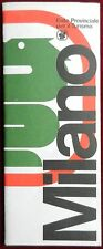 AUTOSTRADALE 1982 ENGLISH EDITION COLOURED PAPER MAP of MILAN INDEXED 1:20 000
