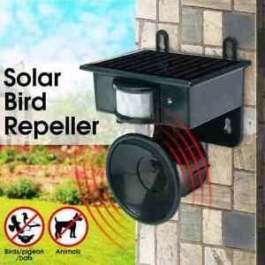 Ultrasonic Outdoor Solar Power Animal Bird Pigeon Cat Dog Fox Repeller Scarer