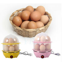 Multi-functional Double-Layer Electric Eggs Boiler Cooker Steamer Home Kitchen