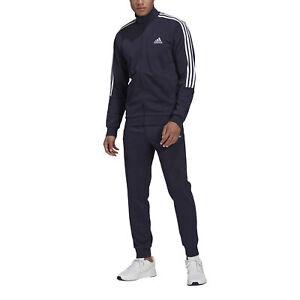 Adidas Tuta da Uomo Aeroready Essentials 3-Stripes Blu Taglia 10 (XL) Cod GK9...