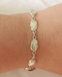 Cute Sterling Silver Shell Bracelet