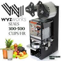 Black Semi-automatic Bubble Tea Cup Sealer Sealing Machine 400-600 Cups/Hr