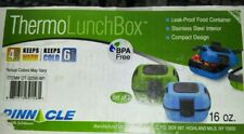 New listing Pinnacle Thermo Lunch Box's 16oz.Set of 2 Blue & Green. Keep warm 4 hr,cold 6 hr