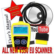 Vauxhall Car Diagnostic Scanner Fault Code Reader CAN-BUS OBD2 OBDII EOBD EOBDII