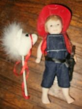 9-in Raymond little cowboy doll by Melissa McCrory for Kais, all bisque