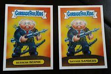 2016 Garbage Pail Kids Berserk Bernie/Savage Sanders 2a/2b Presidential Sticker
