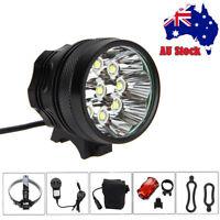 Super Bright 50000LM 9x T6 LED Bike Bicycle MTB Head Light Headlamp+Rear Light