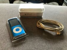 Apple iPod nano 4th gen 8 GB Chromatic Electric Blue complete !! MP3 PLAYER