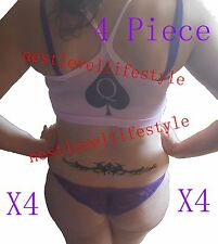 "4 Pack 10"" QOS Queen Of Spades TRAMP STAMP Temporary Tattoos BBC Hotwife Tattoo"