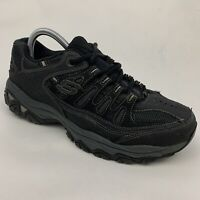 Skechers 50125 After Burn Memory Fit Black Gray Athletic Shoes Men's Size 8.5 US