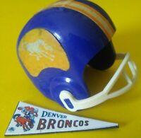 1967 AFL DENVER BRONCOS Vintage mini gumball football helmet Tudor PENNANT NFL