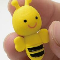 4X Cute Little Bee Design Rubber Pencil Eraser Office Stationery Student Gifts