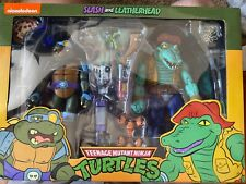 Teenage Mutant Ninja Turtles TMNT NECA Cartoon Series 3 Leather Head and Slash