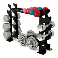 Compact Dumbbell Rack Marcy DBR-56 Tier Horizontal Gym Storage Fitness Equipment