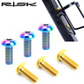 RISK Titanium Cycling Bike Water Bottle Cage Bolt Ti M5*12mm Holder Screw Bolts