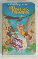 The Rescuers Down Under VHS 1991 Disney Black Diamond