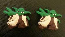 2 x Star Wars Yoda Croc Shoe Charms Clone Crocs Jibbitz Wristbands
