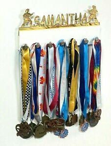 Custom Personalized Name Medal Holder Karate Girl Female Award Belt Display Hang