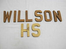 Custom Cut Wood Letters H S WILSON about 5 Inch Tall From 3/4 Pine
