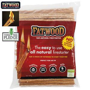 Fatwood Firestarter 1.8kg | All Natural High Resin  Firelighter | Easy to Use