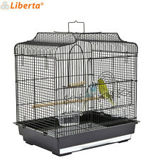 More details for liberta black siam metal cage budgie canary finch cage genuine quality made
