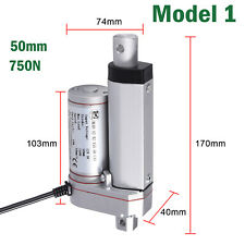 For Auto Car RV Electric DoorOpener DC 12V 750N Linear Actuator Motor 50mm/2 in