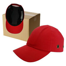 6 Pack - Red Baseball Bump Caps - Safety hard hat - head protection Caps