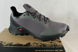 Salomon Alphacross GTX Trainers Low Shoes Sneakers Trainers Grey/Olive New