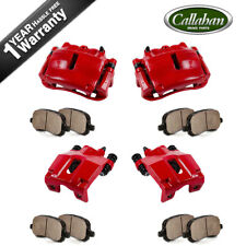 Front+Rear Brake Calipers +Ceramic Pads For FORD F150 LINCOLN MARK LT 4WD 4X4