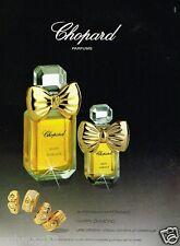 Publicité advertising 1990 Parfum Happy Diamonds Chopard