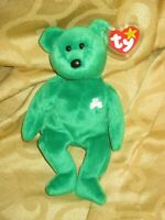 TY Beanie Baby Erin the Bear- 1997 Retired- Rare with Errors- KR on tush tag