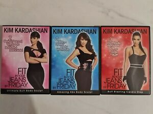 Fit In Your Jeans By Friday Kim Kardashian 3 disk DVD Set