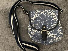 Boden Oilcloth Messenger Bag Blue And White Lovely Condition Handbag