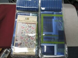 """BETTER HOME VINYL SHOWER CURTAIN AND RING SET~SIZE 70""""×70""""~NEW"""