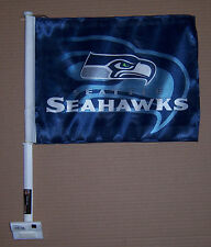 "NEW ""  SEATTLE SEAHAWKS  "" RICO CAR WINDOW DOUBLE IMAGE FLAG"
