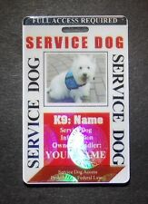 HOLOGRAM SERVICE DOG / PET ID CARD BADGE  FOR SERVICE ANIMAL PROFESSIONAL TAG 28
